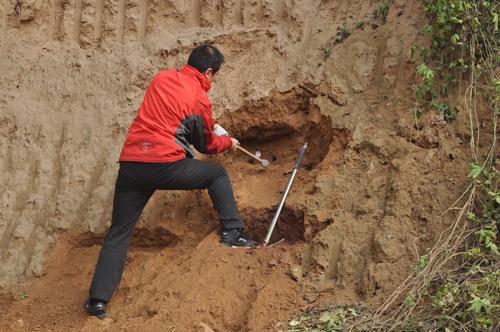 地质调查采集土样